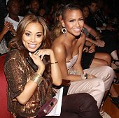 Lauren London and Cassie at The Shrine Auditorium on June 27 2010 in Los Angeles California