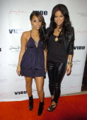 Lauren London and Cassie host a launch party for the Sean John Women's collection at the Sean John flagship store October 19 2007 in New York City...
