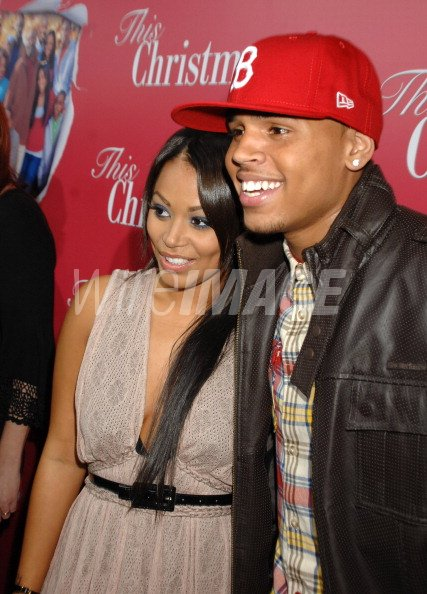 This Christmas Lauren London.Lauren London And Chris Brown At The This Christmas Premiere