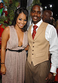 Lauren London and Keith Robinson at the 'This Christmas' premiere at the Cinerama Dome on November 12 2007 in Hollywood California