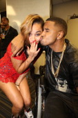 Lauren London and Trey Songz attend the 2013 Essence Festival at the MercedesBenz Superdome on July 6 2013 in New Orleans Louisiana