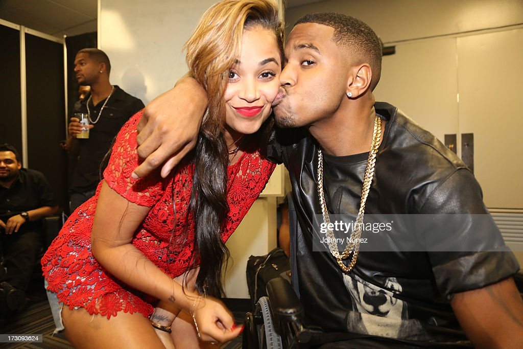 Lauren London and Trey Songz attend the 2013 Essence Festival at the Mercedes-Benz Superdome on July 6, 2013 in New Orleans, Louisiana.