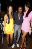 Lauren London Anthony Hamilton and Cassie attend BET Awards 2008 Backstage on June 24 2008 in Los Angeles CA
