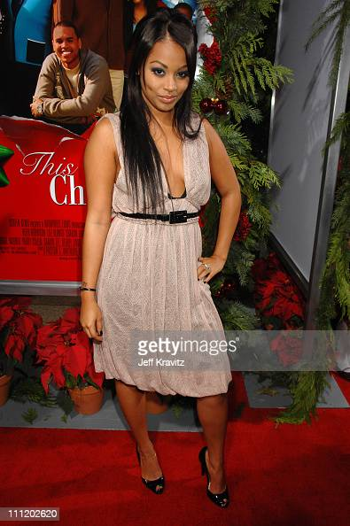 Lauren London at the 'This Christmas' premiere at the Cinerama Dome on November 12 2007 in Hollywood California