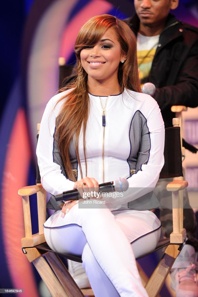 Lauren London visits BET's 106 & Park at BET Studios on March 26, 2013 in New York City.