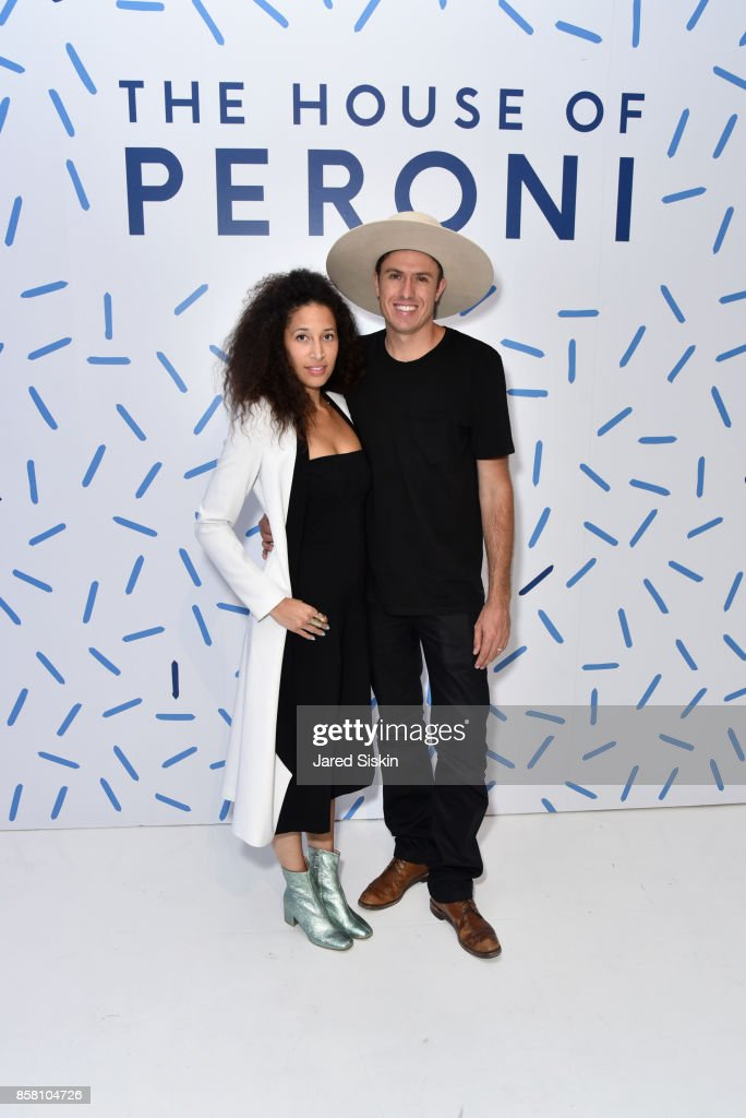 Lauren Machen and August Thurmer attend St. Vincent & Peroni Nastro Azzurro Unveil Second Edition of The House of Peroni on October 5, 2017 in New York City.