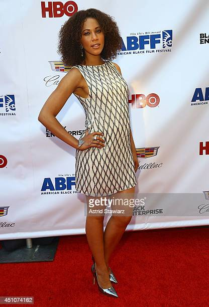 Lauren Macklin attends 'Da Sweet Blood Of Jesus' world premiere during the 2014 American Black Film Festival at Metropolitan Pavilion on June 22 2014...