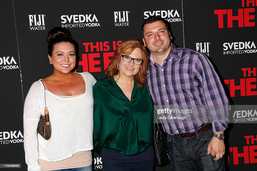 Lauren Manzo, Caroline Manzo and Christopher Manzo attend 'This Is The End' New York Premiere at Sunshine Landmark on June 10, 2013 in New York City.