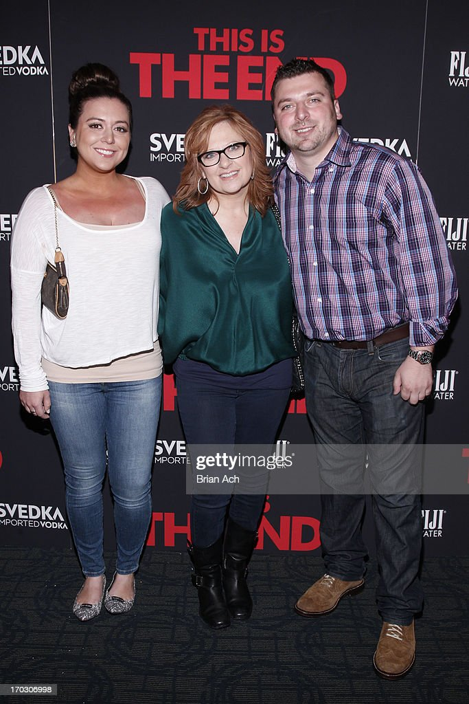 Lauren Manzo, Caroline Manzoa and Christopher Manzo attend a special New York screening of Columbia Pictures' 'This Is The End' presented by FIJI water on June 10, 2013 in New York City.