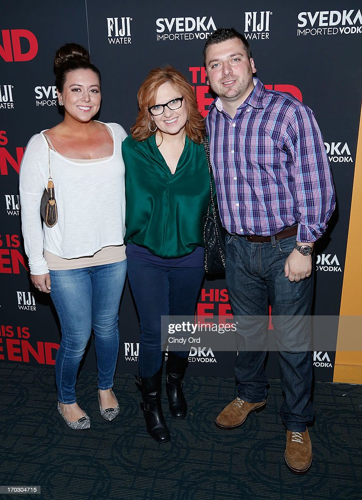 Lauren Manzo, <a gi-track='captionPersonalityLinkClicked' href=/galleries/search?phrase=Caroline+Manzo&family=editorial&specificpeople=5841102 ng-click='$event.stopPropagation()'>Caroline Manzo</a>a and Christopher Manzo attend 'This Is The End' New York Premiere at Sunshine Landmark on June 10, 2013 in New York City.