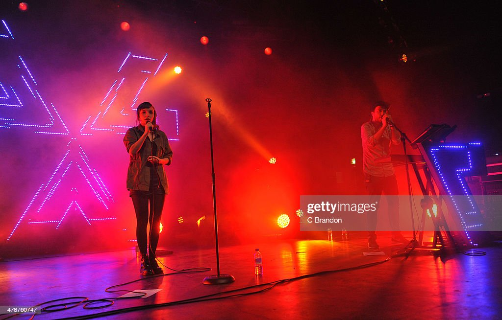 <a gi-track='captionPersonalityLinkClicked' href=/galleries/search?phrase=Lauren+Mayberry&family=editorial&specificpeople=10104078 ng-click='$event.stopPropagation()'>Lauren Mayberry</a> and Martin Doherty of Chvrches perform on stage at The Forum on March 14, 2014 in London, United Kingdom.