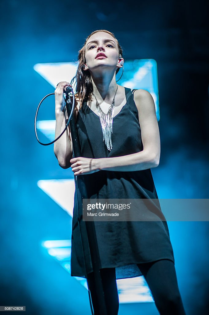 <a gi-track='captionPersonalityLinkClicked' href=/galleries/search?phrase=Lauren+Mayberry&family=editorial&specificpeople=10104078 ng-click='$event.stopPropagation()'>Lauren Mayberry</a> from the band CHVRCHES at St Jerome's Laneway Festival on February 6, 2016 in Brisbane.