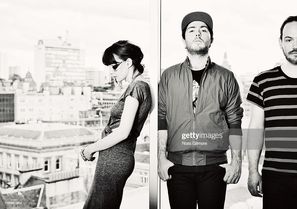 Lauren Mayberry, Iain Cook and Martin Doherty of the band Chvrches pose during a portrait session at The Lighthouse on January 3, 2013 in Glasgow, United Kingdom.