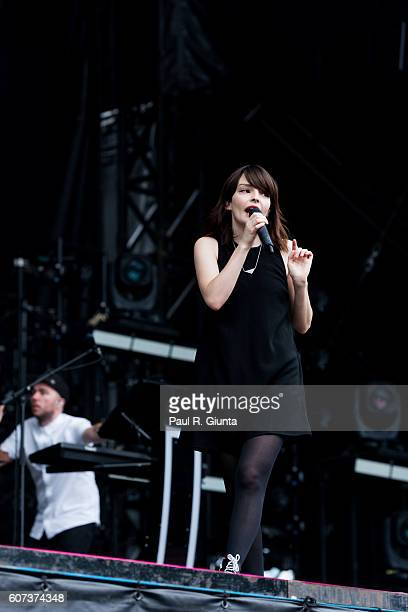 Lauren Mayberry of CHVRCHES performs at Music Midtown 2016 at Piedmont Park on September 17 2016 in Atlanta Georgia