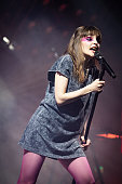 GBR: CHVRCHES Perform At The O2 Victoria Warehouse Manchester