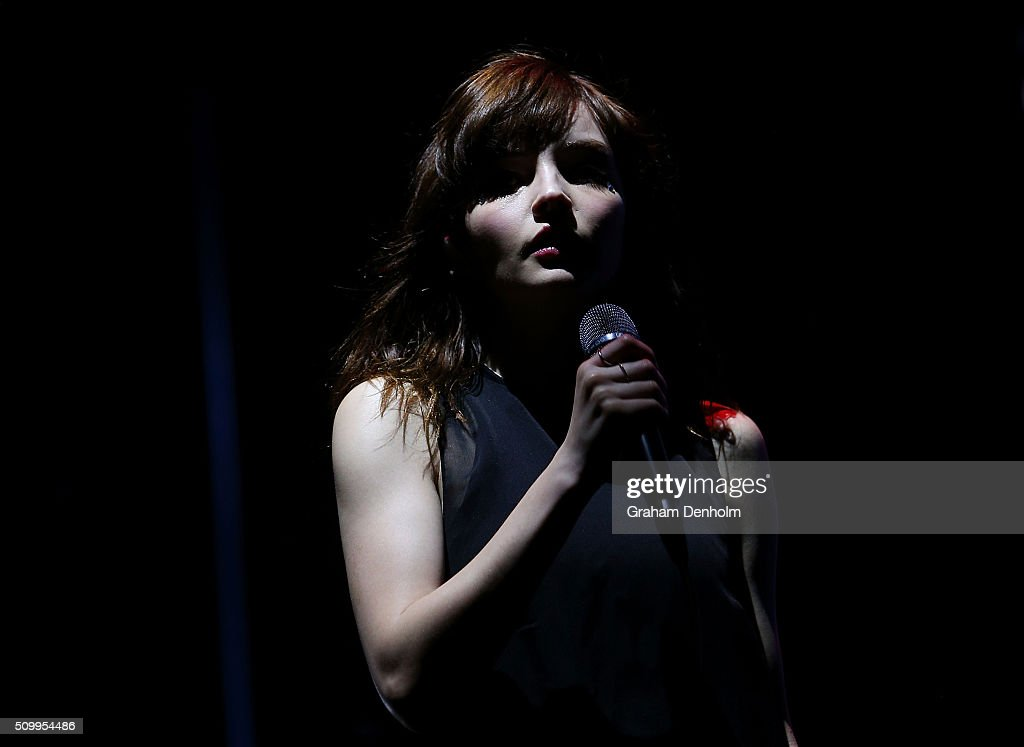 <a gi-track='captionPersonalityLinkClicked' href=/galleries/search?phrase=Lauren+Mayberry&family=editorial&specificpeople=10104078 ng-click='$event.stopPropagation()'>Lauren Mayberry</a> of Chvrches performs at St Jerome's Laneway Festival on February 13, 2016 in Melbourne, Australia.
