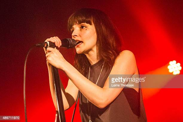 Lauren Mayberry of Chvrches performs at The Dome Tufnell Park on September 23 2015 in London England