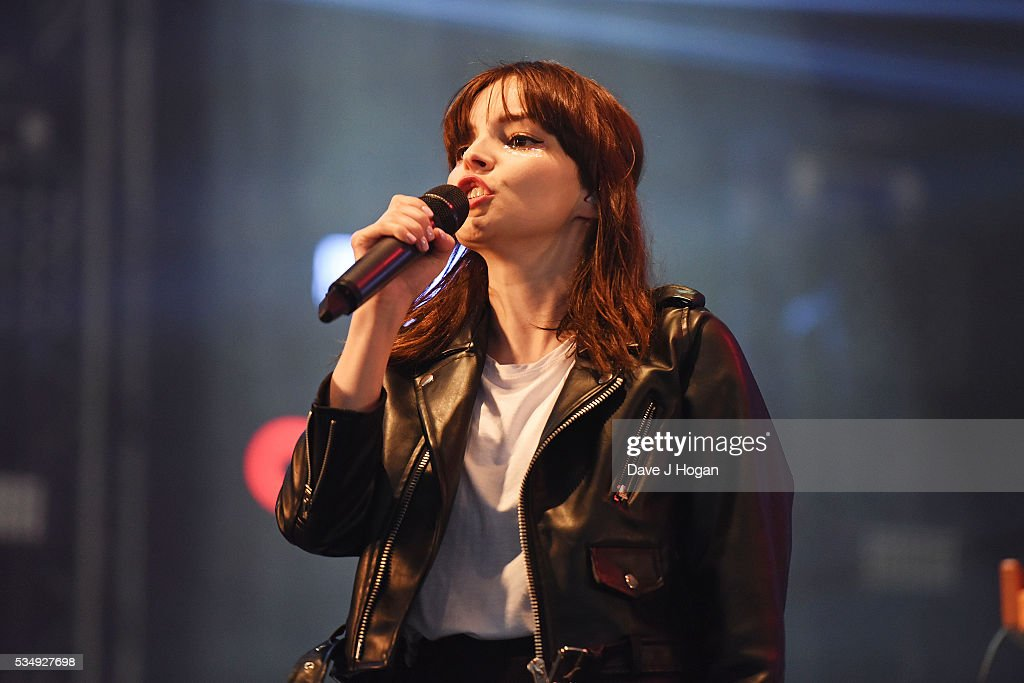 <a gi-track='captionPersonalityLinkClicked' href=/galleries/search?phrase=Lauren+Mayberry&family=editorial&specificpeople=10104078 ng-click='$event.stopPropagation()'>Lauren Mayberry</a> of Chvrches performs during day 1 of BBC Radio 1's Big Weekend at Powderham Castle on May 28, 2016 in Exeter, England.