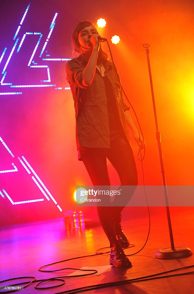<a gi-track='captionPersonalityLinkClicked' href=/galleries/search?phrase=Lauren+Mayberry&family=editorial&specificpeople=10104078 ng-click='$event.stopPropagation()'>Lauren Mayberry</a> of Chvrches performs on stage at The Forum on March 14, 2014 in London, United Kingdom.