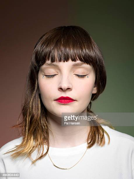 Lauren Mayberry of Electronic band Chvrches is photographed for Under the Radar magazine on June 23 2015 in Glasgow Scotland