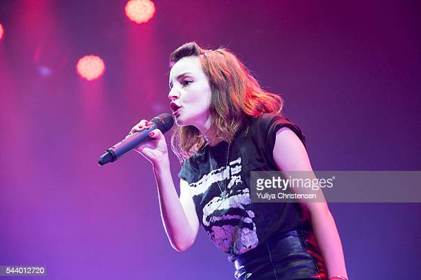 Lauren Mayberry performing with Chvrches performs at Roskilde Festival on June 30 2016 in Roskilde Denmark