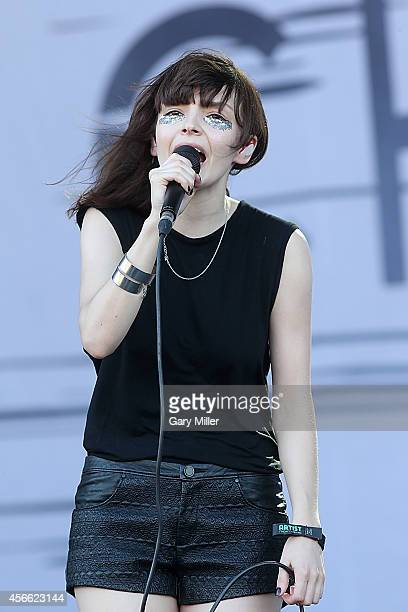 Lauren Mayberry performs in concert with Chvrches on day 1 of the first weekend of the Austin City Limits Music Festival at Zilker Park on October 3...