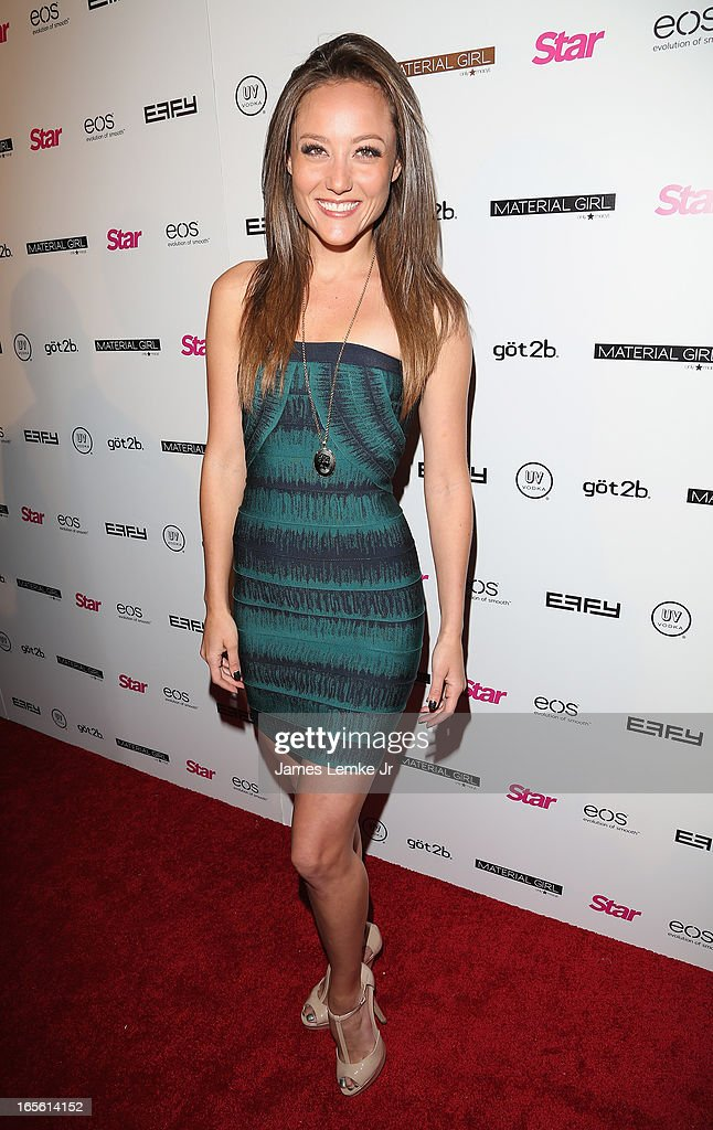 Lauren Mayhew attends the Star Magazine's 'Hollywood Rocks' Party held at the Playhouse Hollywood on April 4, 2013 in Los Angeles, California.