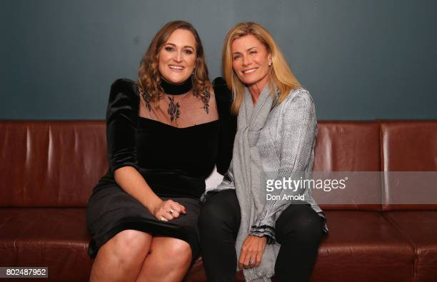 Lauren Miller and Deborah Hutton arrive ahead of The Harry M Miller Group 20th Anniversary Party on June 28 2017 in Sydney Australia