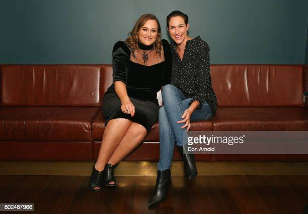 Lauren Miller and Elka Whalan arrive ahead of The Harry M Miller Group 20th Anniversary Party on June 28 2017 in Sydney Australia