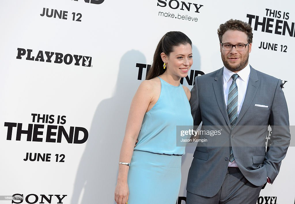 Lauren Miller and Filmmaker <a gi-track='captionPersonalityLinkClicked' href=/galleries/search?phrase=Seth+Rogen&family=editorial&specificpeople=3733304 ng-click='$event.stopPropagation()'>Seth Rogen</a> attend the Premiere of Columbia Pictures' 'This Is The End' at Regency Village Theatre on June 3, 2013 in Westwood, California.