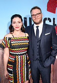 Lauren Miller and Writer/producer/actor Seth Rogen attend the premiere of Universal Pictures' 'Neighbors 2 Sorority Rising' at the Regency Village...