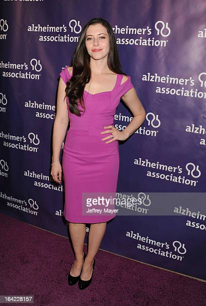 Lauren Miller arrives at the 21st Annual 'A Night At Sardi's' to benefit the Alzheimer's Association at The Beverly Hilton Hotel on March 20 2013 in...