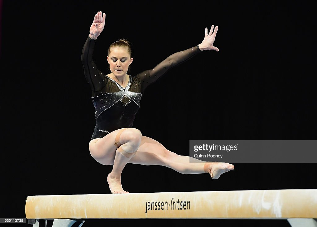 <a gi-track='captionPersonalityLinkClicked' href=/galleries/search?phrase=Lauren+Mitchell+-+Gymnast&family=editorial&specificpeople=3094478 ng-click='$event.stopPropagation()'>Lauren Mitchell</a> of Western Australia competes on the beam during the 2016 Australian Gymnastics Championships at Hisense Arena on May 29, 2016 in Melbourne, Australia.