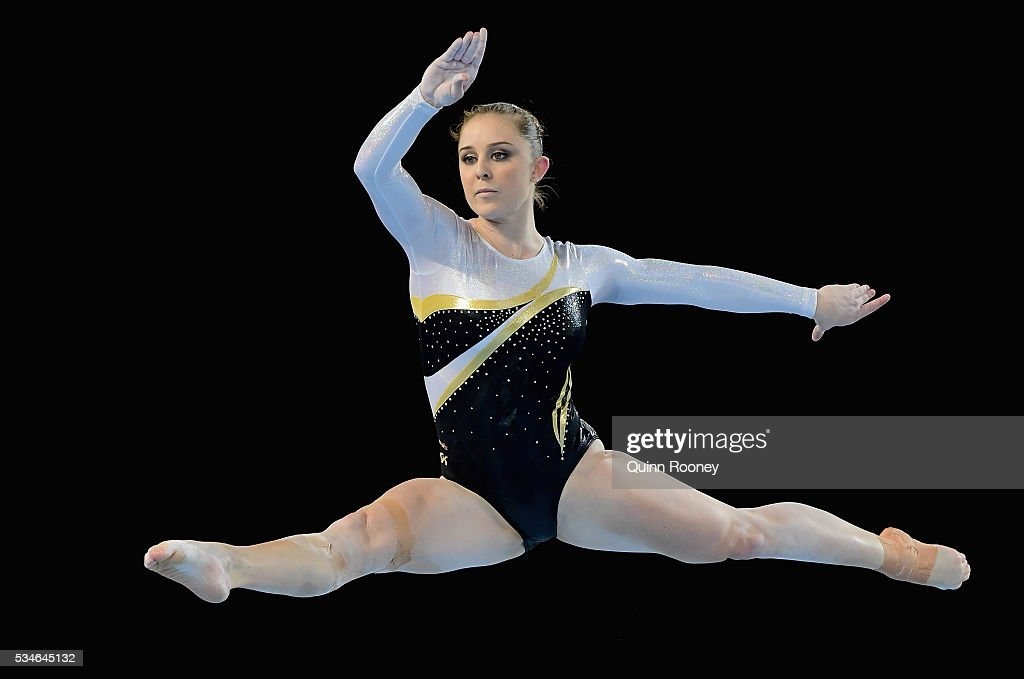 <a gi-track='captionPersonalityLinkClicked' href=/galleries/search?phrase=Lauren+Mitchell+-+Gymnast&family=editorial&specificpeople=3094478 ng-click='$event.stopPropagation()'>Lauren Mitchell</a> of Western Australia competes on the floor during the 2016 Australian Gymnastics Championships at Hisense Arena on May 27, 2016 in Melbourne, Australia.