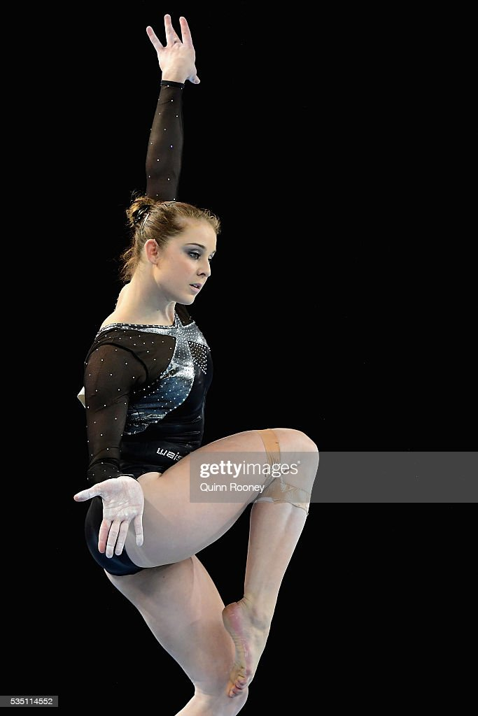 <a gi-track='captionPersonalityLinkClicked' href=/galleries/search?phrase=Lauren+Mitchell+-+Gymnaste&family=editorial&specificpeople=3094478 ng-click='$event.stopPropagation()'>Lauren Mitchell</a> of Western Australia competes on the floor during the 2016 Australian Gymnastics Championships at Hisense Arena on May 29, 2016 in Melbourne, Australia.