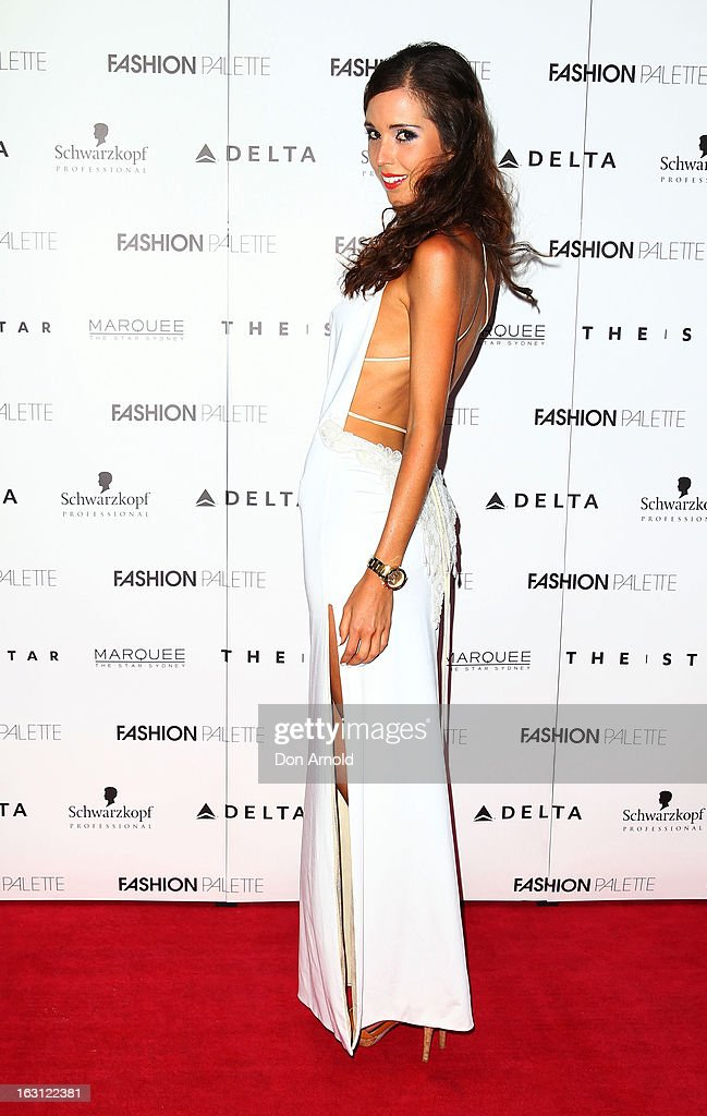 Lauren Mitchell poses during the Fashion Palette VIP launch at The Star on March 5, 2013 in Sydney, Australia.