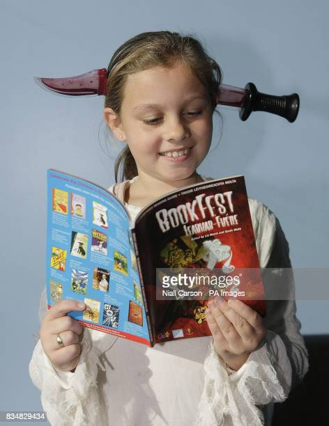 Lauren Moore from Griffen Valley Educate together school at the launch of the 2008 Children's Book Fair at Liberty Hall in Dublin