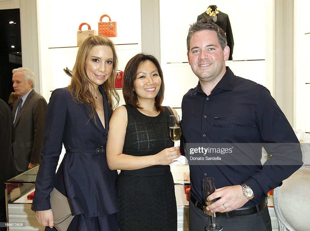 Lauren Muzinich, Lisa Williams and Jason Williams attend Dior celebrates the opening of Dior Couture Patrick Demarchelier Exhibition at the Dior store at South Coast Plaza May 10, 2013 in Costa Mesa, California.