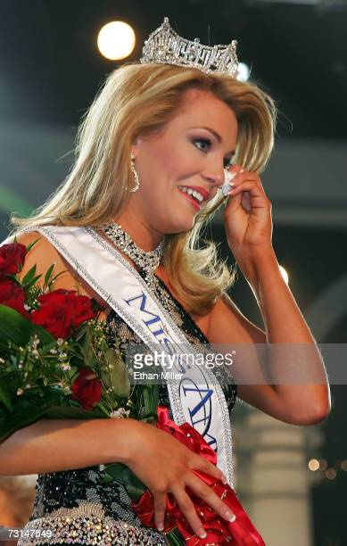 Lauren Nelson Miss Oklahoma is named Miss America 2007 during the 2007 Miss America Pageant at the Aladdin Theatre for the Performing Arts January 29...