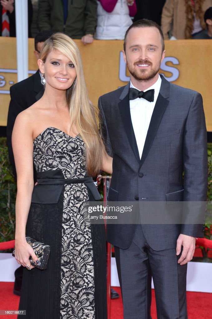 Lauren Parsekian and actor Aaran Paul attend the 19th Annual Screen Actors Guild Awards at The Shrine Auditorium on January 27, 2013 in Los Angeles, California. (Photo by Larry Busacca/WireImage) 23116_018_0851.JPG