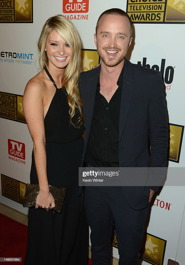 Lauren Parsekian (L) and actor <a gi-track='captionPersonalityLinkClicked' href=/galleries/search?phrase=Aaron+Paul+-+Actor&family=editorial&specificpeople=693211 ng-click='$event.stopPropagation()'>Aaron Paul</a> arrive at Broadcast Television Journalists Association Second Annual Critics' Choice Awards at The Beverly Hilton Hotel on June 18, 2012 in Beverly Hills, California.