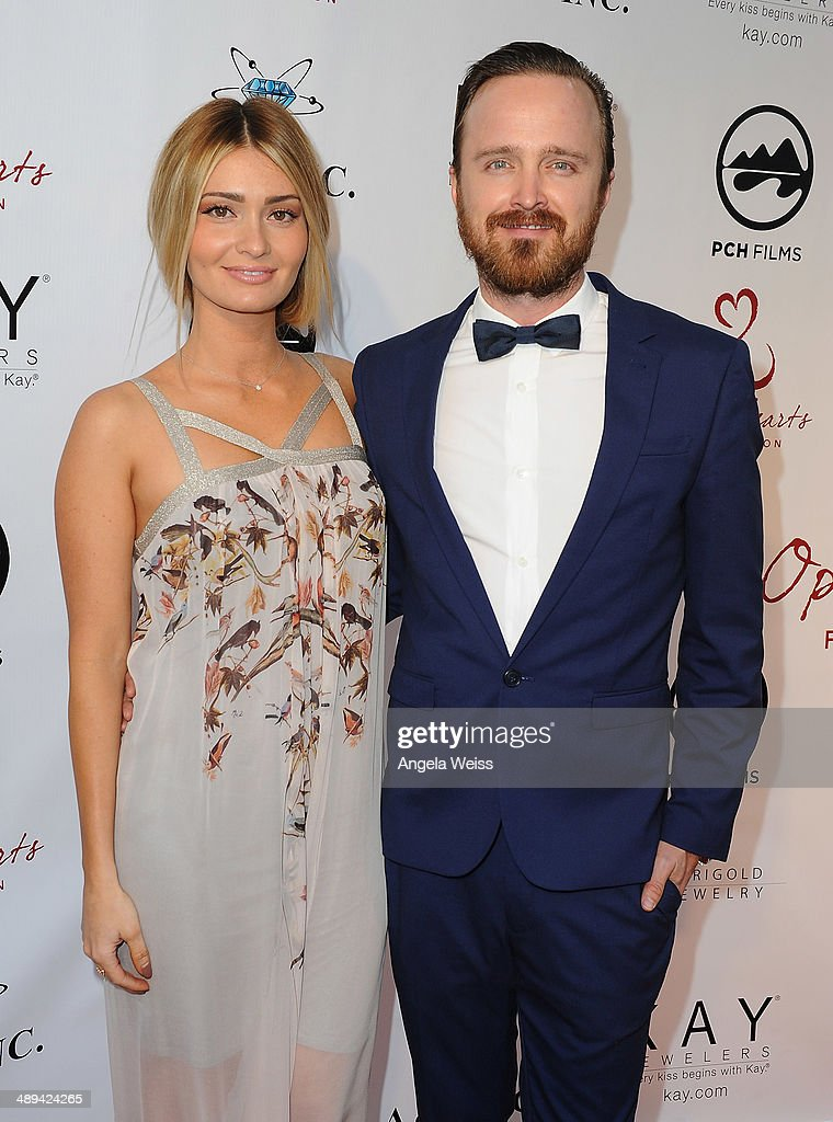 Lauren Parsekian-Paul and her husband actor Aaron Paul attend the 'Open Hearts Foundation Gala' on May 10, 2014 in Malibu, California.