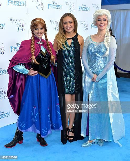 Lauren Platt attends a celebrity singalong from 'Frozen' at Royal Albert Hall on November 17 2014 in London England