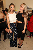 Lauren Pope and Chloe Madeley attend as activewear brand 'Xinx' launch a popup store in Notting Hill on May 19 2016 in London England