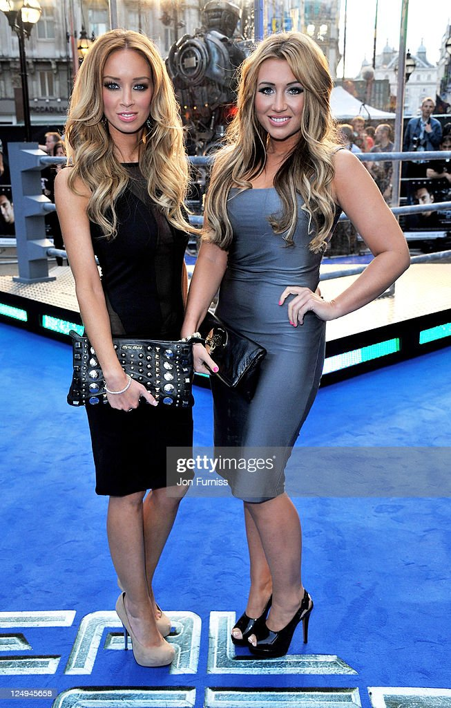 Lauren Pope and Lauren Goodger attend the UK Premiere of 'Real Steel' at Empire Leicester Square on September 14 2011 in London England