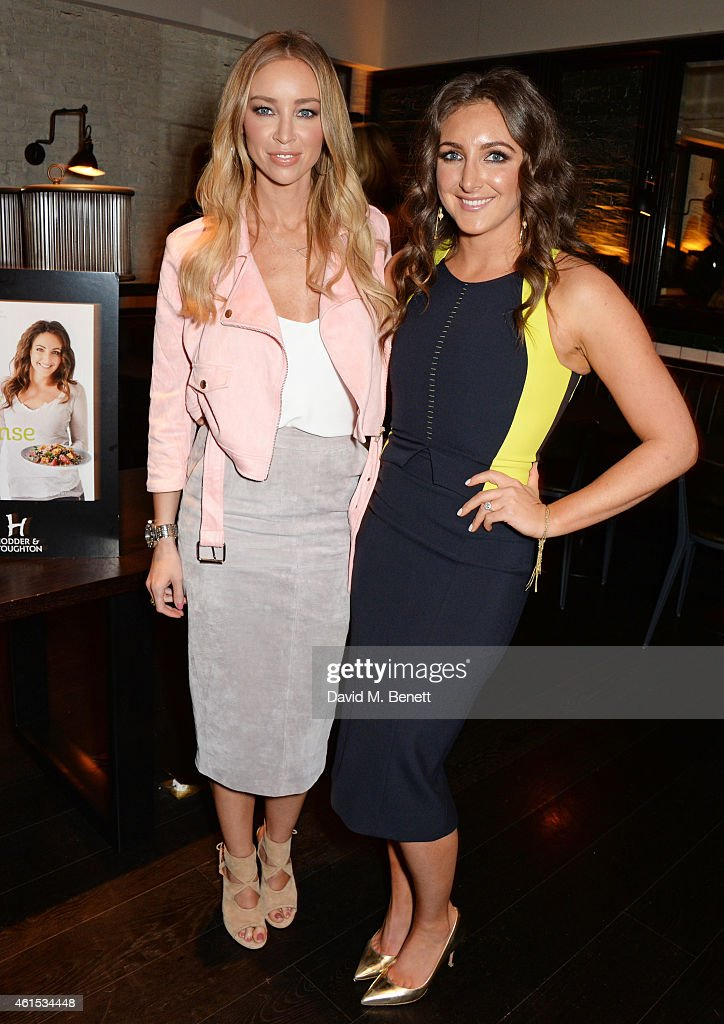 Lauren Pope and Natasha Corrett attend the launch of Natasha Corrett's new book 'Honestly Healthy Cleanse' at Tredwell's on January 14 2015 in London...