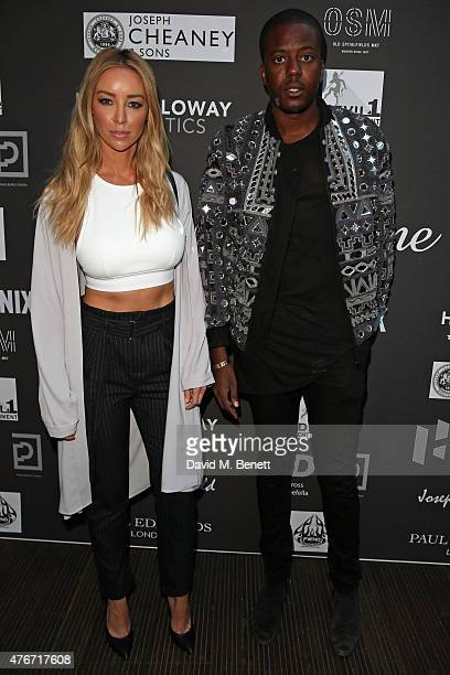 Lauren Pope and Vas J Morgan attend 'Grand Illusion' the Joshua Kane Spring/Summer 2016 Men's Collection runway show at Old Spitalfields Market on...