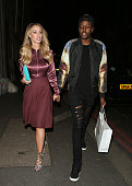 Lauren Pope and Vas J Morgan attending The Sun Bizarre Party at Steam and Rye on March 2 2015 in London England