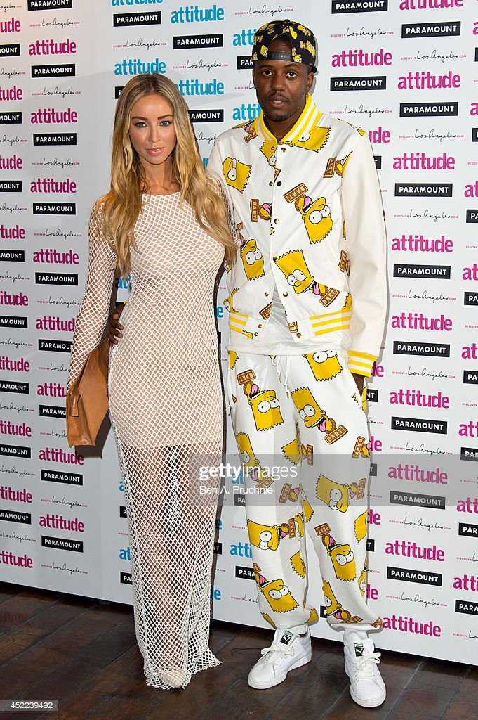 <a gi-track='captionPersonalityLinkClicked' href=/galleries/search?phrase=Lauren+Pope&family=editorial&specificpeople=217525 ng-click='$event.stopPropagation()'>Lauren Pope</a> and Vas Morgan attends the Attitude Magazine Hot 100 party at Paramount Club on July 16, 2014 in London, England.
