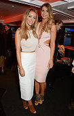 Lauren Pope and Vogue Williams attend the launch of 'Good Ship Benefit' a beauty and entertainment destination opening on the River Thames and run by...